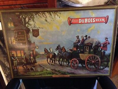 Dubois Pa Budweiser Beer Metal Sign  Not Porcelain  Nice And Early Great Shape