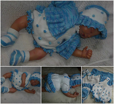 reborn specialist handknitted baby outfits - Baby in style cute'n' sweet rompers