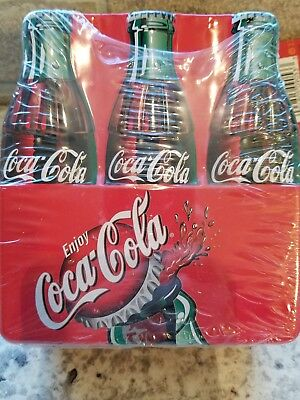 Coca-Cola Tin Lunchbox 6 Pack with tag