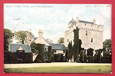 Easter Kames Castle, Near Port Bannatyne, Pu Ritchie, Printed, Posted 1904
