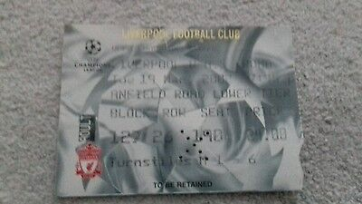 312) Liverpool V AS Roma ticket stub champions league 19-3-2002