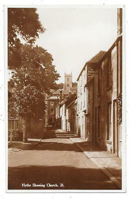Superb Real Photographic Postcard Of Hythe  Kent Showing The Church