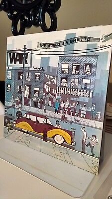 WAR - THE WORLD IS A GHETTO VINYL LP 1972  soul/funk collection