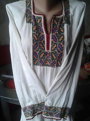 Ukrainian embroidery,vintage embroidered  dress, S-M, handicraft