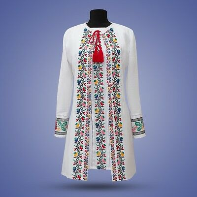 Ukrainian embroidery, embroidered dress 2in1 , S - XL+