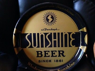 Reading Pa Sunshine Beer Round 13 Inch Tray Not Porcelain Sign