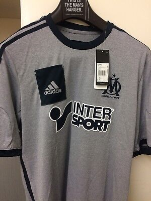 olympique de marseille Adidas Football Shirt BNWT Large
