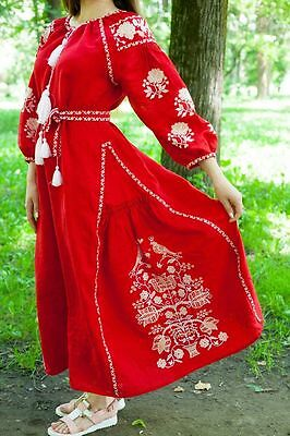 Ukrainian embroidery, embroidered dress, ANY COLOR, XS - 3XL, Ukraine