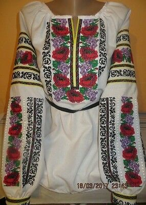 Ukrainian embroidery, embroidered blouse, coton, XS - 4XL, Ukraine