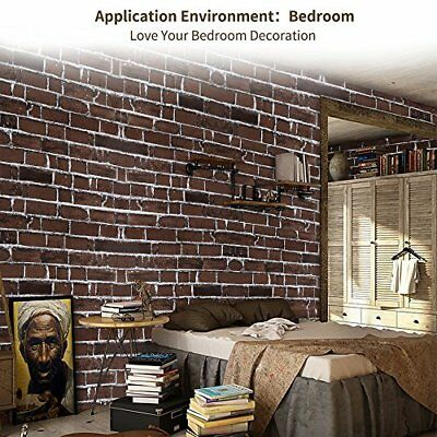 Old Red Brick Wallpaper Roll Retro Stone Brick Wall Background Textured Art Home