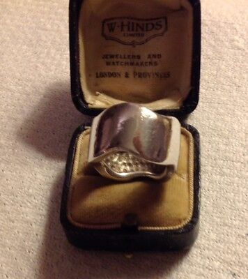 Vintage Sterling Silver Chunky Modernist Ring