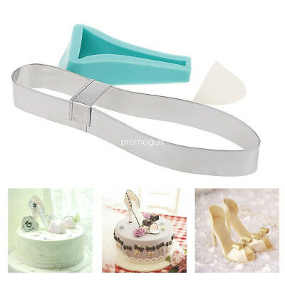 High Heel Shoe Kit Silicone Fondant Mould Sugar Cake Decorating Template Mold 3D