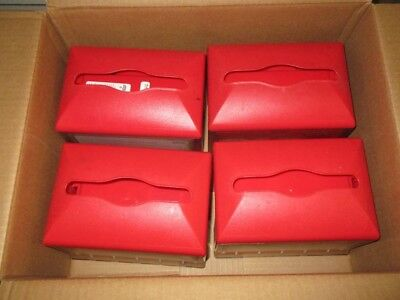 LOT OF 4 TORK XPRESSNAP NAPKIN DISPENSER MODEL 46XPT Red !