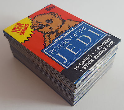 1983 Star Wars Return Of The Jedi Topps Trading Cards, Complete Set 133 to 220.