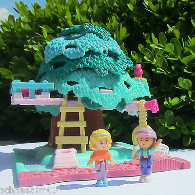 Mini Polly Pocket Tree House 1996 Rutsche Baumhaus 100% complete