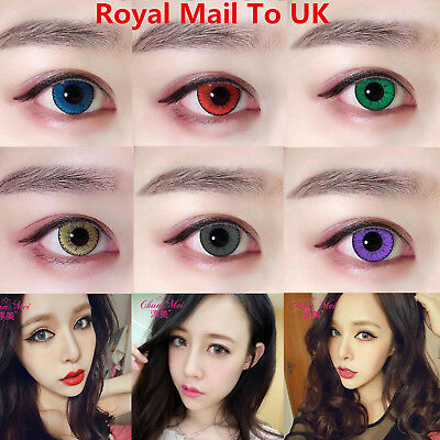6COLOR! Coloured Contact Lenses Halloween Coloured Cosmetic Makeup Cosplay lens
