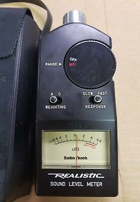 Vintage Working Realistic 33-2050 Sound Level Meter-Free Shipping