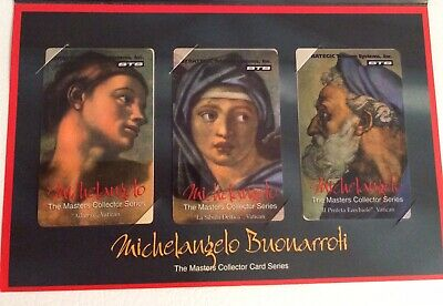 """STS Master's Series """"Michelangelo BuonarrotI"""" Collector Phone Cards"""