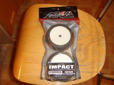 New AKA Impacts  1/8th buggy wheels and tyres,pre-glued in soft compound