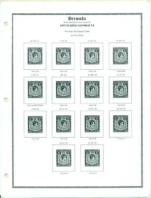 Lot 814  1938-52 Kgvi Supplement For The Bermuda Specialized Album 7 Photos