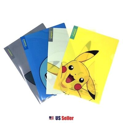 NEW Pokemon Pikachu Squirtle Snorlax School Office Layer File Folder : Set of 4