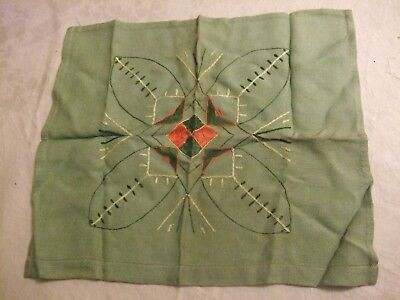 Vintage Homemade Hand Embroidered Tray/Table Mat/Cloth Sewing Arts/Crafts