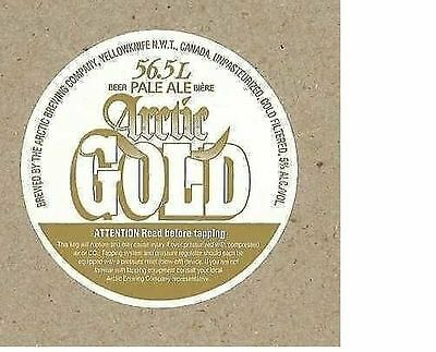 Arctic Brewing Gold Yellowknife Canada Beer Keg Label