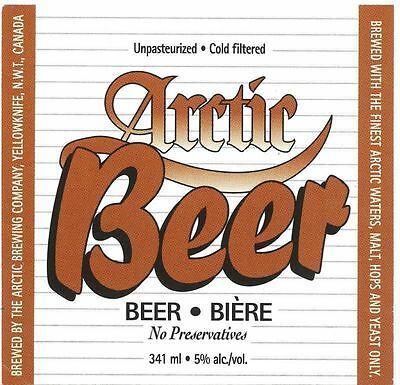 Arctic Brewing Co. Copper Yellowknife Canada Beer Label