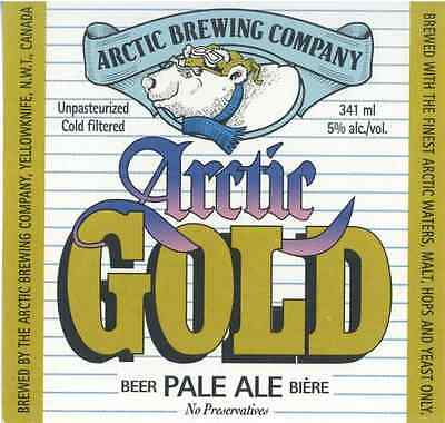 Arctic Brewing Co. Gold Yellowknife Canada Beer Label