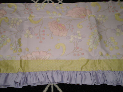 Kidsline by Dena Snow Flower Collection Window Valance Purple Green Baby Girl