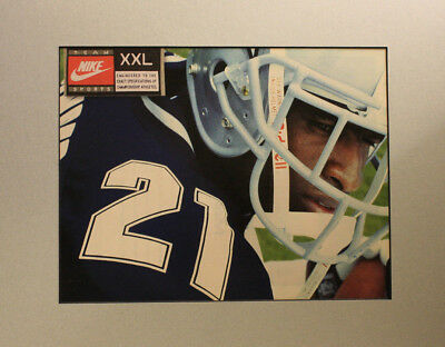 Vintage 1995 Nike Dallas Cowboys Deion Sanders Print Ad 11x14 Ready to Frame