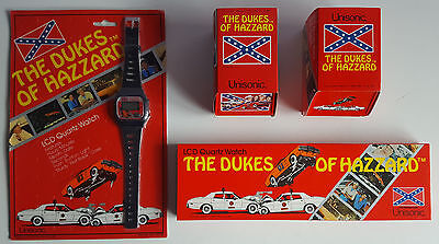4 x 1981 Dukes Of Hazzard Collectable Watches, Unisonic Watch, New Old Stock.