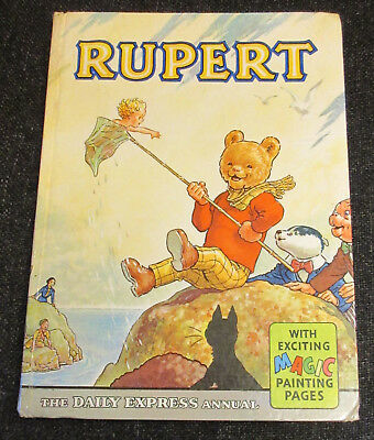 Rupert Bear Annual 1963 Original. Price Removed Name Written Inside All Pages In