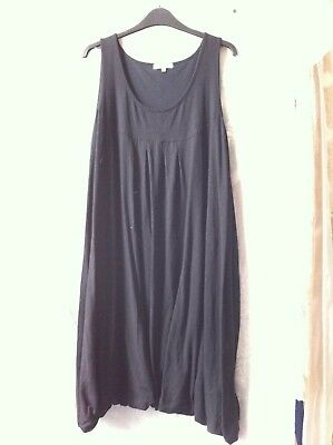 Mamas and Papas maternity smock dress black sleeveless bubble hem 16