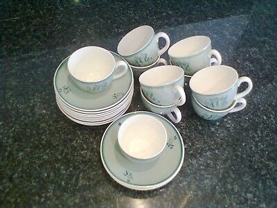 Poole Pottery Cups and Saucers Lovely Pastel Shade