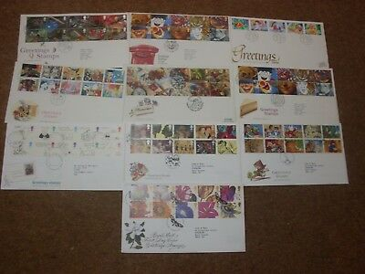 Excellent Collection 1989-97 GB Greetings FDCs - all spec HS (10) - rf258