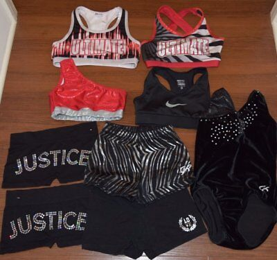 9Pc Girls Dance Lot Gk Nike Girls Sz 6/7 7 Gymnastics Ck