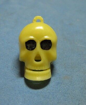 Vintage Plastic Mechanical Skull Charm Gumball Toy Prize Premium 1960's