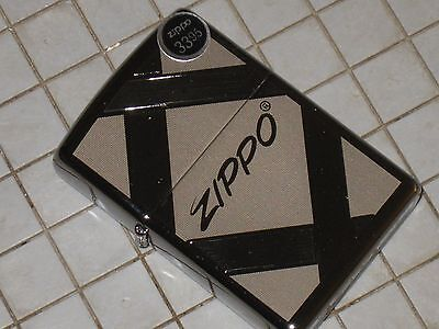 A New Zippo USA Windproof Flame Lighter Unparalled Tradition on Black Ice Ribbon