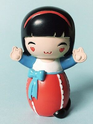 Rare Japanese Momiji Lucky Resin Hand Painted Message Doll 2011
