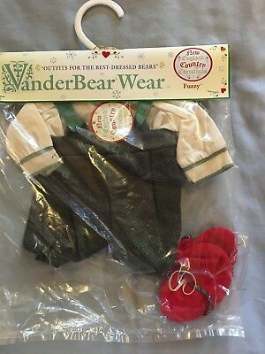 Vanderbear Wear New England Country Christmas Outfit/ New/ Fuzzy