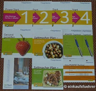 Weight Watchers 1-4 + Pointsliste + Restaurantführer *TOPHIT*