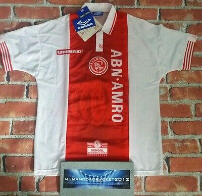 1994 95 STILL WITH TAGS ajax AMSTERDAM HOLLAND HOME FOOTBALL SHIRT JERSEY RARE