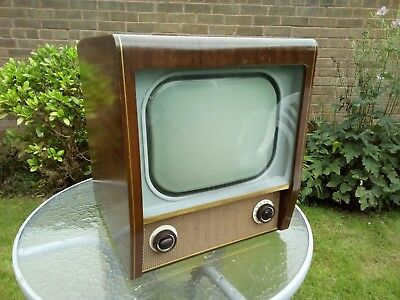 Vintage old Bush black and white television receiver type TV 63 circa early...