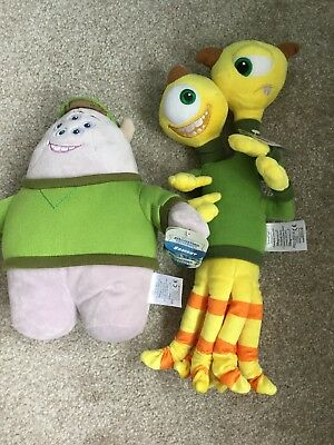 """Disney Store Monsters University Squishy Soft Toy 10"""" Sand Terri and Terry"""