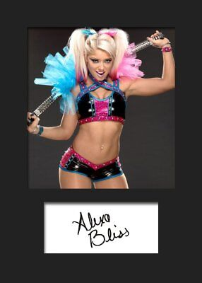Alexia Bliss (WWE) A5 Mounted Signed Print (Reprint)