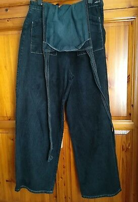 Freddies of Pinewood Home Companion Dungarees Size 36 16 Black Rockabilly Pin Up