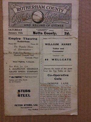 Rotherham County V Notts County 1920-1921