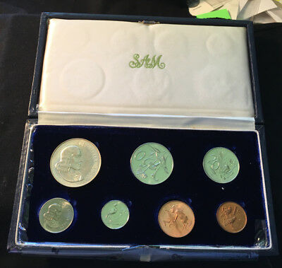 1966 South Africa Proof Set, With Silver Rand And Issue Case
