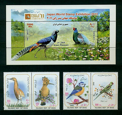 Persien Tiere Vögel Satz 2002 und Block 2011 ** Animals Birds set and s/s MNH